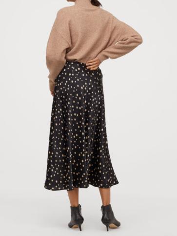 H&M Polka Dot Midi Skirt